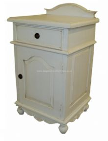 Sandrine 1 Drawer French Bedside in your choice of colour